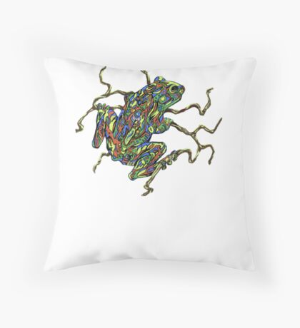 Frog and vine Throw Pillow