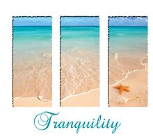 Tranquility Beach Triptych by artNimages