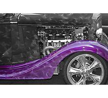 Purple Fender Photographic Print