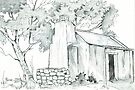 Fisherman's Cottage sketch by Maree  Clarkson