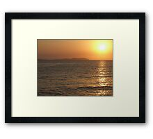 Sunset @ San Antonio Framed Print