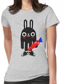 Rabbit Lunch Time Womens Fitted T-Shirt