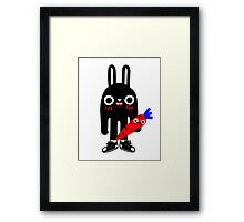Rabbit Lunch Time Framed Print