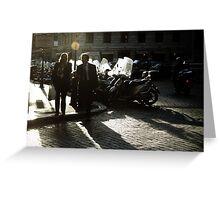 Roman Street Scene Greeting Card