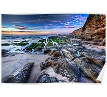 Caves Beach Lines - Swansea NSW Poster