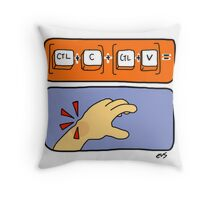 Data Entry Throw Pillow