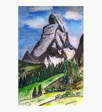 The Matterhorn Zermatt Switzerland Photographic Print