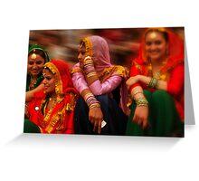 the colour of diwalli Greeting Card