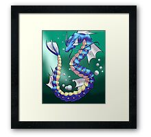 Twisting Fish Dragon Framed Print