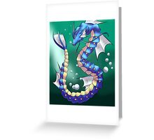 Twisting Fish Dragon Greeting Card