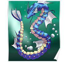 Twisting Fish Dragon Poster