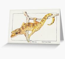 Giant Cave Gecko Greeting Card