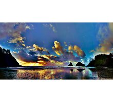 Oregon Coast Sunset Photographic Print