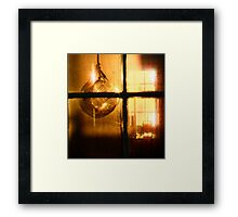 Sunset Through a Window Framed Print