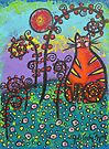 Cat In The Meadow by Juli Cady Ryan