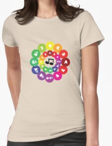 Circle of Fifths - Music Chord Chart Womens Fitted T-Shirt