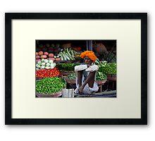 VEGETABLES - RAJASTHAN Framed Print