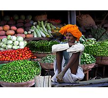 VEGETABLES - RAJASTHAN Photographic Print