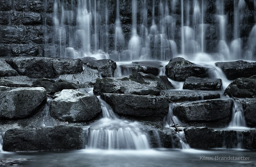 delicate falls almost monochrome by Klaus Brandstaetter