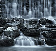 delicate falls almost monochrome by Klaus Brandstaetter