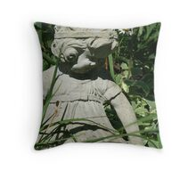 in the garden, I shall play Throw Pillow