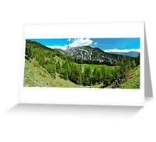 Crans Montana Greeting Card