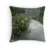 have a seat in the garden Throw Pillow