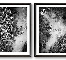 Cross Section A & B [diptych] by Maliha Rao