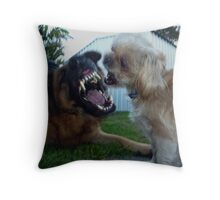 Yes We Are Playing......You has the plaques on your teeths. Throw Pillow