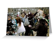 Pillow Fight, Boston Greeting Card