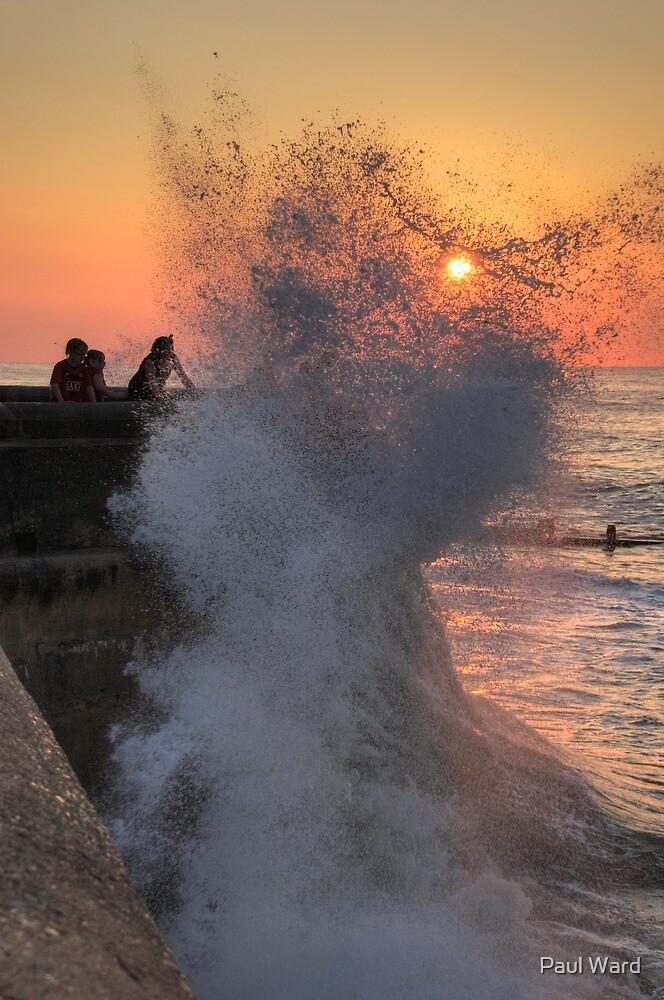 Cromer high tide soaking by Paul Ward