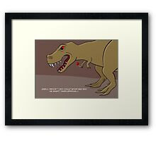 Dinosaur Balloon Oblivion Framed Print
