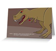 Dinosaur Balloon Oblivion Greeting Card