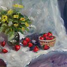 Strawberries on a Table Top by Richard Nowak