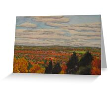 Clouds Over Autumn Landscape Greeting Card