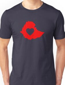 A piece of my heart is in Ethiopia (Red) Unisex T-Shirt