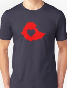 A piece of my heart is in Ethiopia (Red) T-Shirt