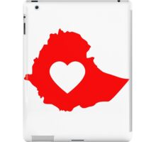 A piece of my heart is in Ethiopia (Red) iPad Case/Skin