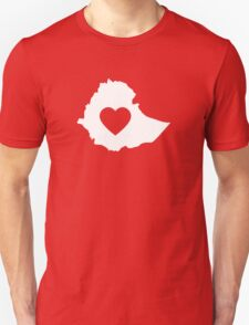 A piece of my heart is in Ethiopia (White) T-Shirt