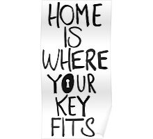 Home is where you key fits Poster