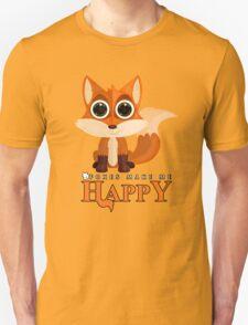 Foxes Make Me Happy T-Shirt