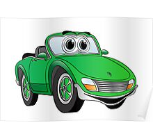 Convertible Green Sports Car Poster