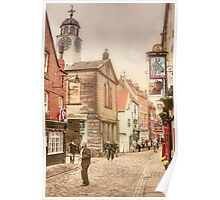 Whitby Old Town Poster