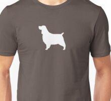 English Springer Spaniel Silhouette (White) Unisex T-Shirt