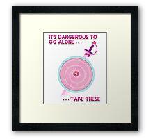 Steven Universe: It's Dangerous To Go Alone Framed Print