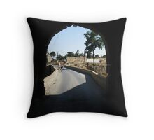 Arch way in Famagusta. Throw Pillow