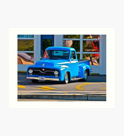 Blue Ford Pickup Art Print