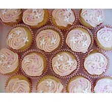 raspberry cupcakes Photographic Print