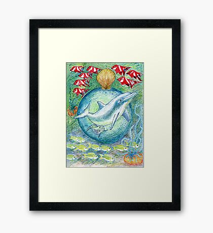 Mother dolphin  Framed Print