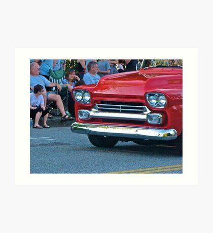Red Viintage Car Art Print